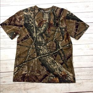 Camo Short Sleeve Shirt Youth XL